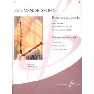 MENDELSSOHN F. ROMANCES SANS PAROLES OP 85/102 VOL 6 HAUTBOIS