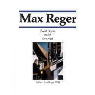 REGER M. STUCKE OP 59 ORGUE