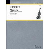 KREISLER F. ALLEGRETTO  STYLE DE BOCCHERINI VIOLON