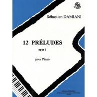 DAMIANI S. PRELUDES OP 1 PIANO