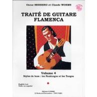 HERRERO O./WORMS C. TRAITE DE GUITARE FLAMENCA VOL 4