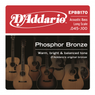 JEU DE CORDES BASSE D'ADDARIO EPBB170 PHOSPHORE BRONZE 45/100
