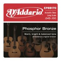 JEU DE CORDES BASSE D'ADDARIO EPBB170 PHOSPHORE BRONZE 45/100