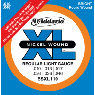 JEU DE CORDES D'ADDARIO REGULAR LIGHT/DOUBLE BOULE ESXL110