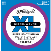 JEU DE CORDES D'ADDARIO REGULAR SUPER LIGHT/7C EXL120