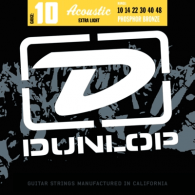 JEU DE CORDES ACOUSTIQUE DUNLOP STRINGS DAP1048 PHOSPHOR BRONZE 10/48