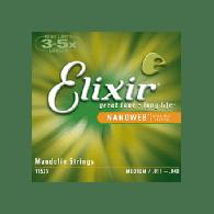 JEU DE CORDES MANDOLINE ELIXIR NANOWEB 11/40 REF:11525
