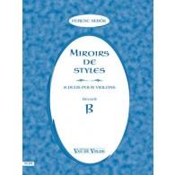 SEBOCK F. MIROIRS DE STYLES VOL B VIOLONS