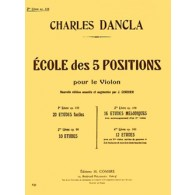 DANCLA C. ECOLE DES 5 POSITIONS OP 128 VOL 3 VIOLON