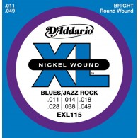 JEU DE CORDES D'ADDARIO EXL115 BLUES/JAZZ ROCK 11/49