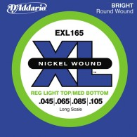 JEU DE CORDES BASSE D'ADDARIO EXL165 XL FILE ROND NICKEL 45-105