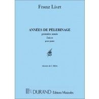 LISZT F. ANNEES DE PELERINAGE 1RE ANNEE PIANO