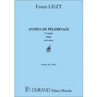LISZT F. ANNEES DE PELERINAGE 2ME ANNEE PIANO
