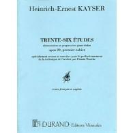 KAYSER H.E. ETUDES OP 20 VOL 1 VIOLON