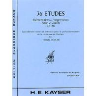 KAYSER H.E. ETUDES OP 20 VOL 2 VIOLON