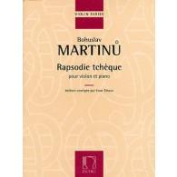 MARTINU B. RAPSODIE TCHEQUE VIOLON