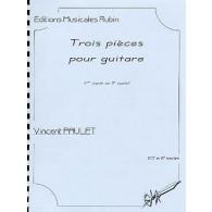 PAULET V. TROIS PIECES GUITARE