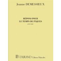 DEMESSIEUX J. REPONS POUR LE TEMPS DE PAQUES ORGUE
