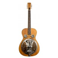 RESONATOR DOBRO HOUND DOG DELUXE ROUND NECK VINTAGE BROWN
