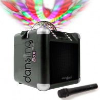 Enceinte Bluetooth karaoké Dansing Box noir