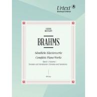 BRAHMS J. COMPLETE PIANO WORKS VOL 1