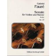 FAURE G. SONATE N°1 OP 13 VIOLON