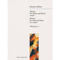 BRAHMS J. SCHERZO WoO POSTHUME DO MINEUR VIOLON