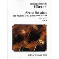 HAENDEL G.F. SONATES OP 1 VOL 2 VIOLON