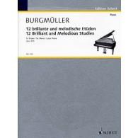BURGMULLER F. ETUDES BRILLANTES ET MELODIQUES OP 105 PIANO
