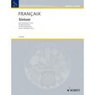 FRANCAIX J. SIXTUOR INSTRUMENTS A VENT CONDUCTEUR