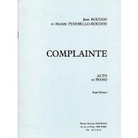 ROUDON J./PENNIELLO-ROUDON M. COMPLAINTE ALTO