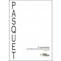 PASQUET J. D. APHORISMES DE VARIATIONS OP 23 ORGUE