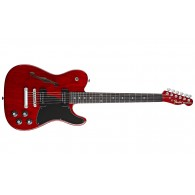 FENDER JIM ADKINS JA-90 TELECASTER THINLINE CRIMSON RED TRANSPARENT