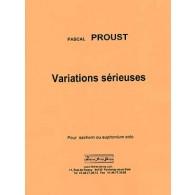PROUST P. VARIATIONS SERIEUSES TUBA/EUPHONIUM/SAXHORN