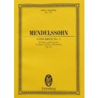 MENDELSSOHN F. CONCERTO N°1 PIANO ET ORCHESTRE CONDUCTEUR