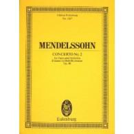 MENDELSSOHN F. CONCERTO N°2 PIANO ET ORCHESTRE CONDUCTEUR