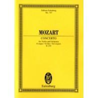 MOZART W.A. CONCERTO K 216 VIOLON ET ORCHESTRE PARTITION DE POCHE