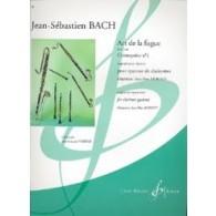 BACH J.S. ART DE LA FUGUE BWV 1080 CONTREPOINT N°1 CLARINETTES