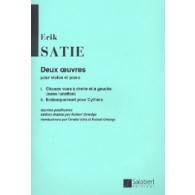 SATIE E. DEUX OEUVRES VIOLON