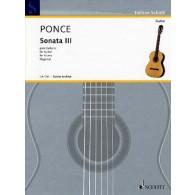 PONCE M.M. SONATA 3 GUITARE