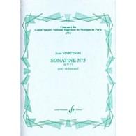 MARTINON J. 5ME SONATINE OP 32 VIOLON SOLO
