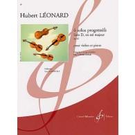 LEONARD H. SOLOS PROGRESSIFS OP 62 D SOL MAJEUR VIOLON