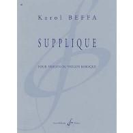BEFFA K. SUPPLIQUE VIOLON SOLO