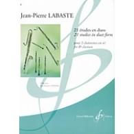 LABASTE J.P. 21 ETUDES EN DUO CLARINETTES SIB