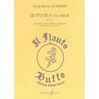 SCHNEIDER G.A. QUATUOR EN SOL MAJEUR OP 52/3
