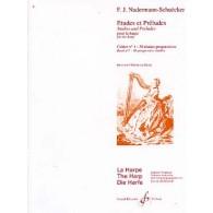 NADERMAN J.H./SCHUECKER ETUDES ET PRELUDES VOL 1 HARPE