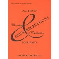 FIEVET P. RECREATIONS PIANO
