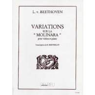 BEETHOVEN L. VARIATIONS SUR LA MOLINARA VIOLON