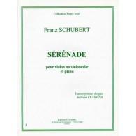 SCHUBERT F. SERENADE VIOLON OU VIOLONCELLE  EPUISE
