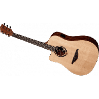 LAG TL70DCE TRAMONTANE DREADNOUGHT CUTAWAY NATUREL LEFTY